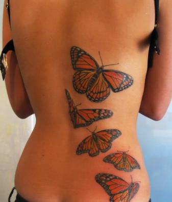 back butterfly tattoo designs