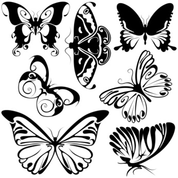 lower back tattoos of butterflies