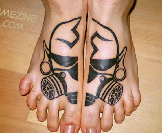 cool feet tattoo