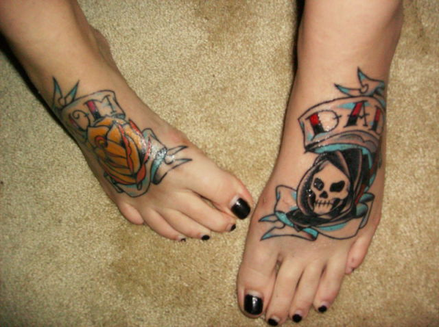 crazy foot tattoos