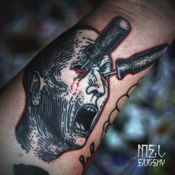 eyes stabbing tattoo