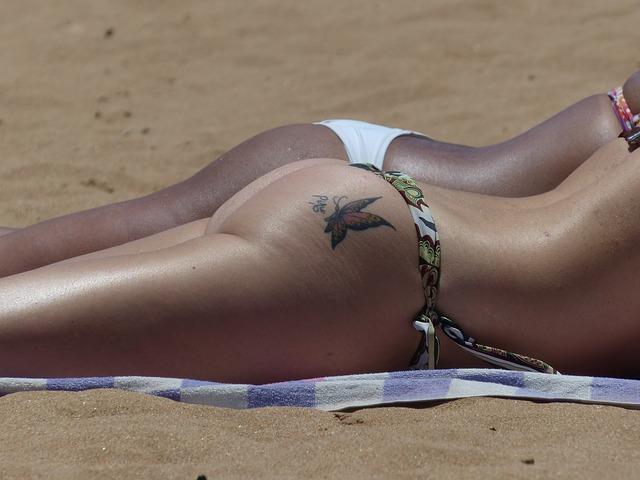 butterfly butt tattoo