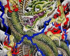 cool dragon tattoo