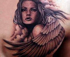 sexy angel tattoo
