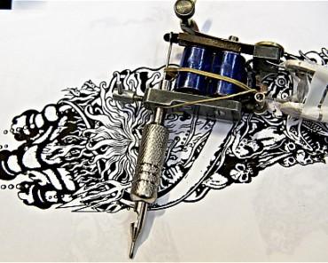 using tattoo gun
