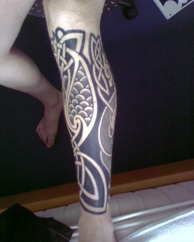 leg celtic tattoo designs