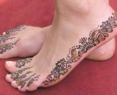 henna foot tattoo designs