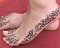 henna foot tattoo designs