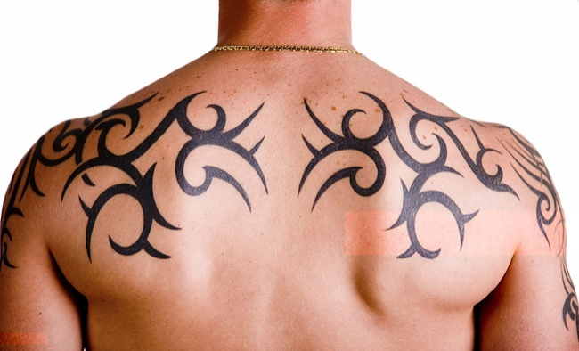 man tribal tattoo