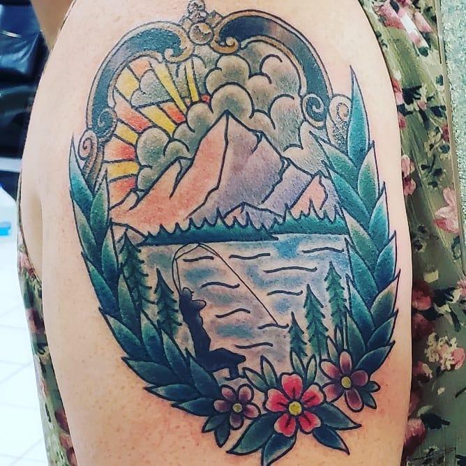 camping tattoo 3